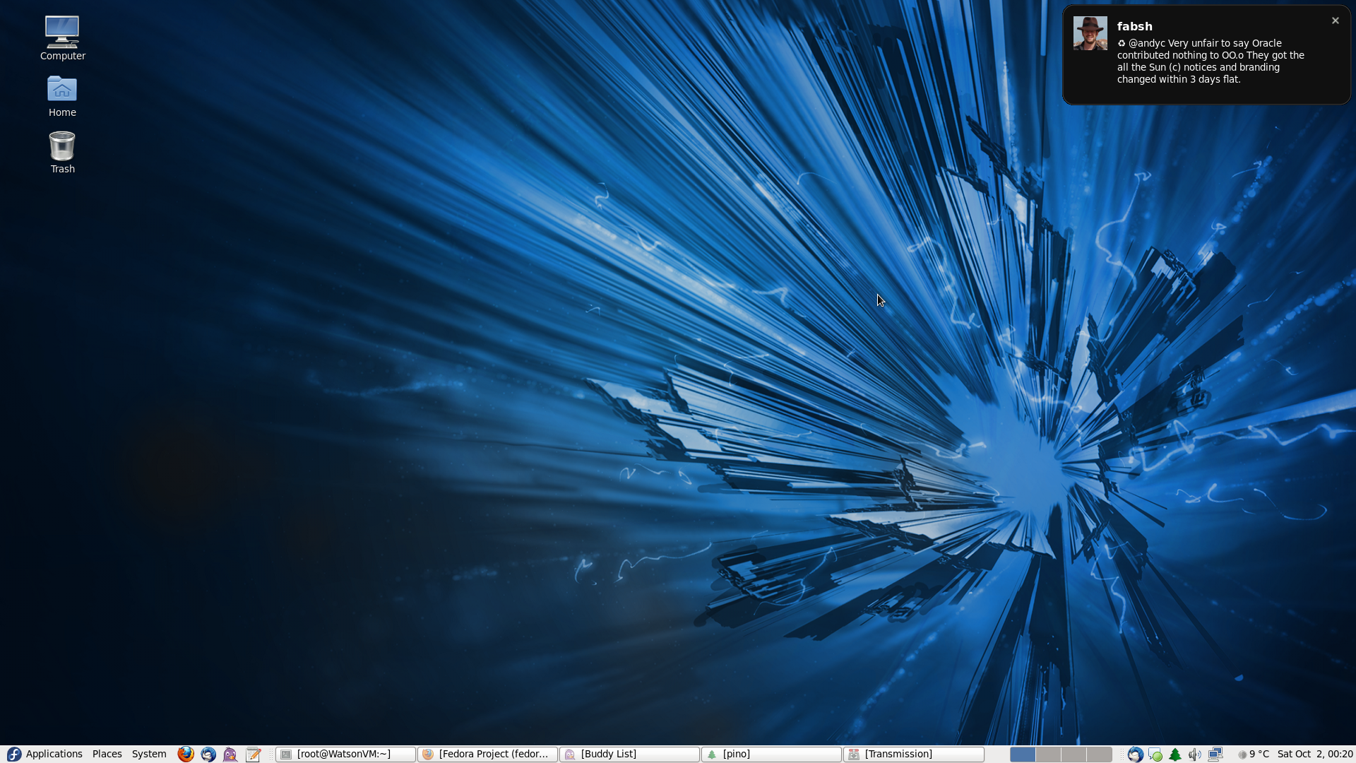 Screenshot Fedora 14